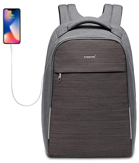 KUPRINE Business Anti Theft Laptop Backpack for Men Women TSA Friendly  Travel Laptop Slim Backpack Lightweight 9f5b69c4f915a