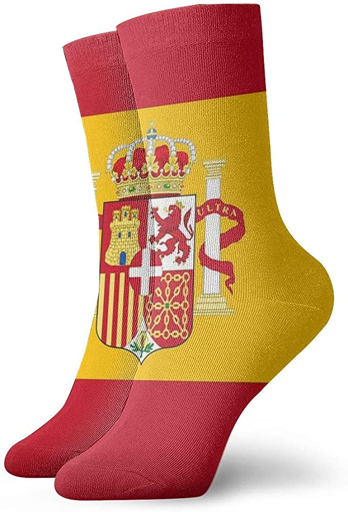 Tammy Jear Calcetines unisex Bandera de España Moda Novedad Calcetines deportivos secos: Amazon.es: Ropa y accesorios