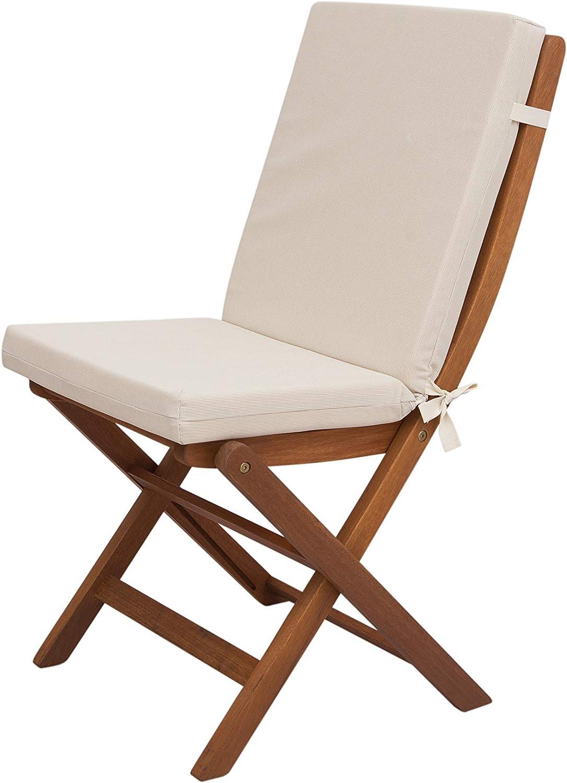 Chillvert KAN205 -  Cojin Hampton Beige Desenfundable Tejido olefina 90x45x5 cm