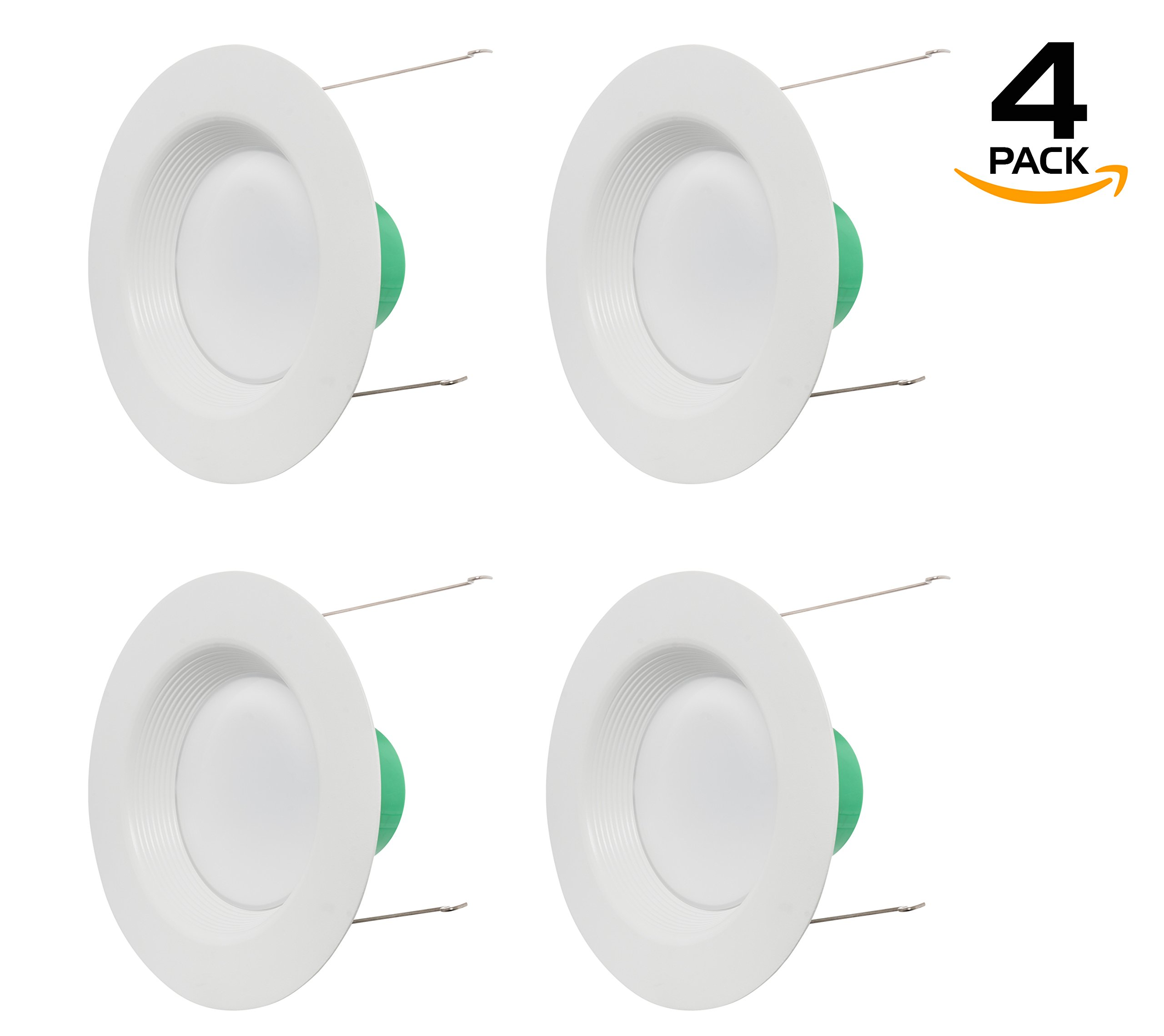 Westgate Lighting 18W 6 Inch LED Retrofit Downlight With Integrated Baffle Trim - Dimmable LED Recessed Light Fixture Kit For Home, Kitchen,Office - 120V High Lumen (4 Pack, 2700k Warm White)