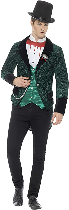 Victorian Men's Costumes: Mad Hatter, Rhet Butler, Willy Wonka Smiffys Mens Deluxe Victorian Vampire Costume $19.68 AT vintagedancer.com