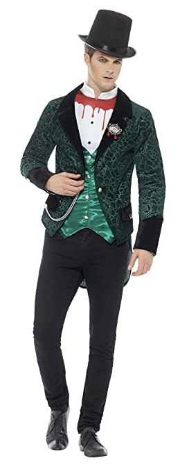 Victorian Men's Clothing, Fashion – 1840 to 1900 Smiffys Mens Deluxe Victorian Vampire Costume $46.00 AT vintagedancer.com