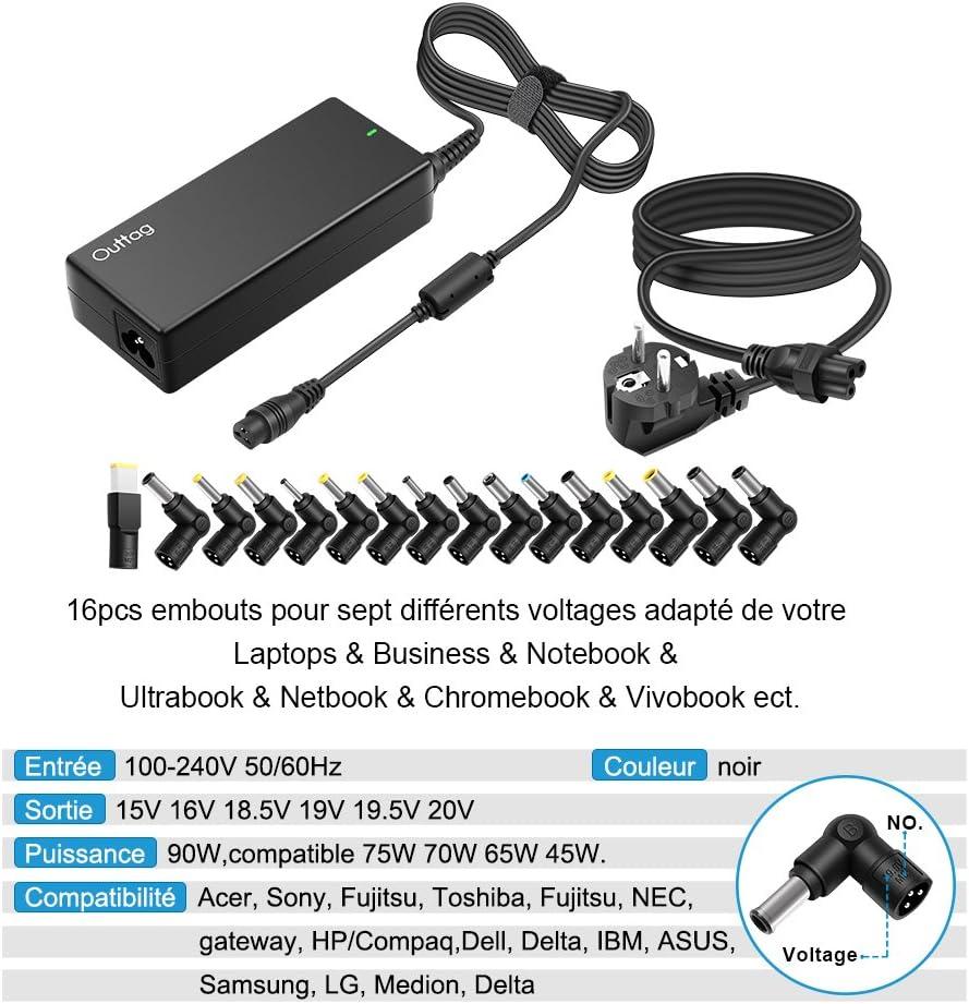 NUOVO DELTA 90W adattatore caricatore compatibile per Toshiba Satellite Pro U400-142