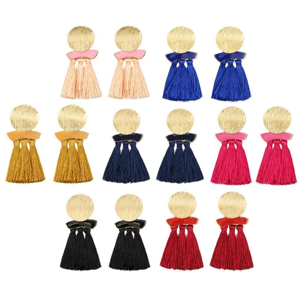 8f70419453b7 FAMILIZO Estilo vintage Rhinestones Crystal Tassel Dangle Stud Pendientes  de joyería de moda Negro Pendientes Borla Mujer Elegante Pendientes Mujer  Largos ...