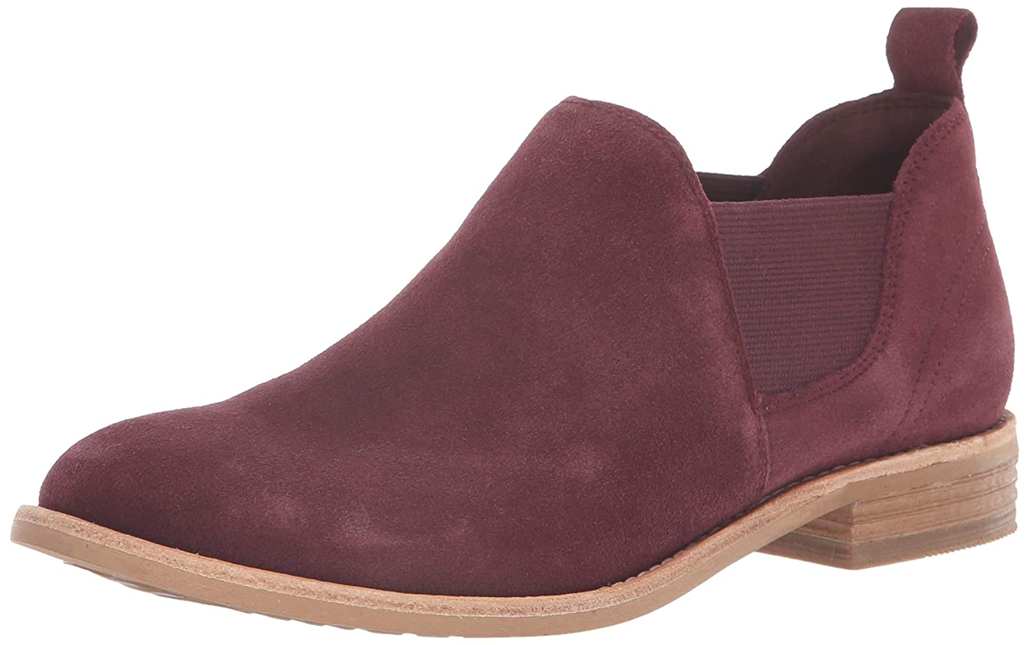 Burgundy Suede Clarks Womens Edenvale Page Fashion Boot