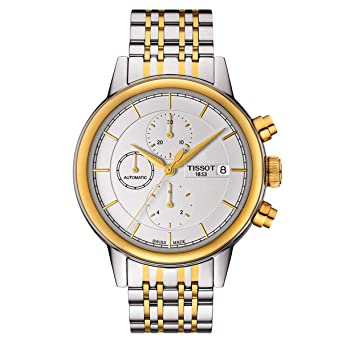 19788bd7ba4 Image Unavailable. Image not available for. Color: Tissot Carson White Dial  Two-Tone Automatic Men's Watch T0854272201100