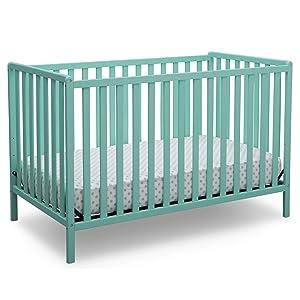 Delta Children Heartland 4-in-1 Convertible Crib, Aqua