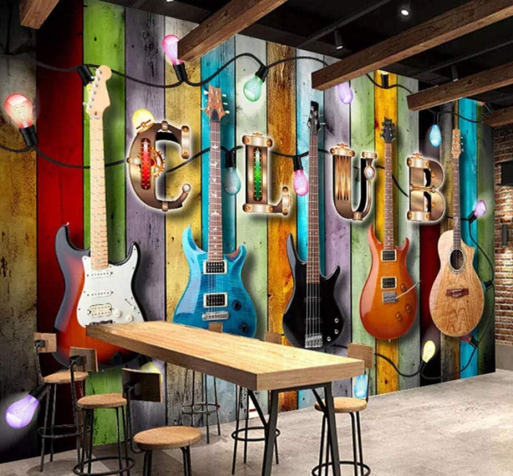 Papel pintado Pintura de pared Color Madera Grano Guitarra Música ...