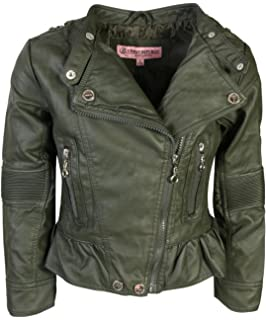 420ff422f11e Urban Republic Toddler   Big Girls Faux Leather Motorcycle Moto Biker Jacket