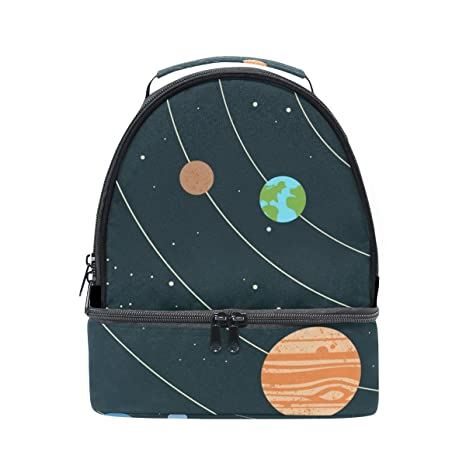 Amazon com: GIOVANIOR Solar System Illustration Lunch Bag