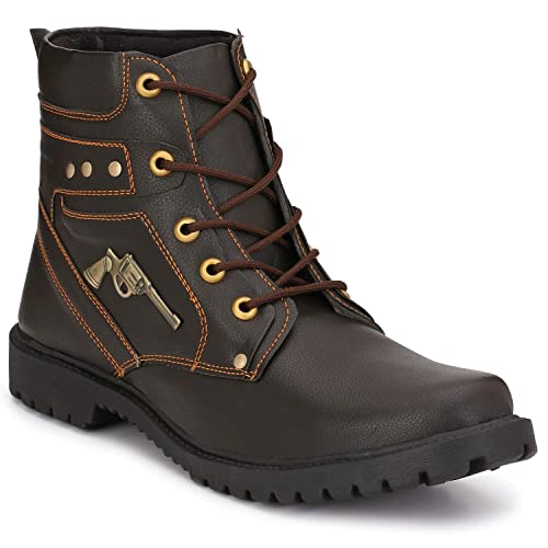 Oladin Mens Leather Long Boots Men's Boots at amazon