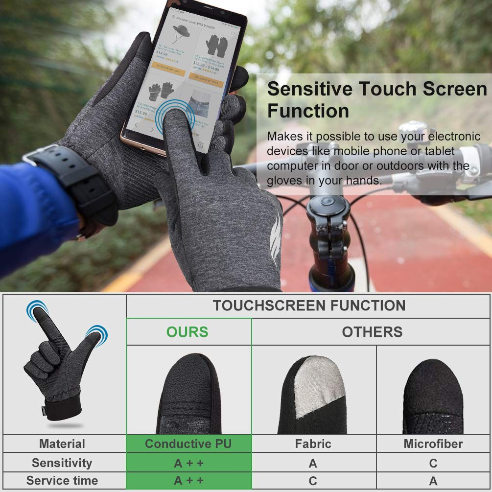 Winter Gloves Anti-slip Running Cycling Driving Motorcycle Gloves Touch Screen Gloves Sports Gloves for Men Women