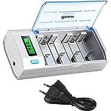 BONAI Batterijlader LCD Universele Snelle Acculader voor AA/AAA/SC/C/D/9V NI-Mh/NI-CD Batterijen met Oplaadbare Batterijen Ontlaadfunctie