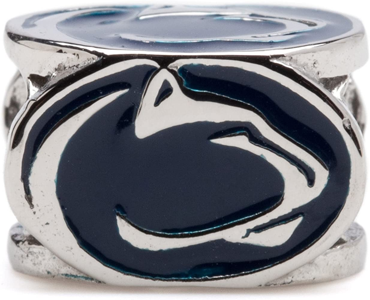 Solid 925 Sterling Silver Official Penn State University Medium Enamel Disc Pendant Charm 22mm x 15mm