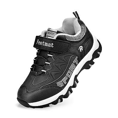 e9913bd19 Feetmat Kids Hiking Shoes Waterproof Running Sneaker for Boys Girls Black  Size 8.5 M Toddler