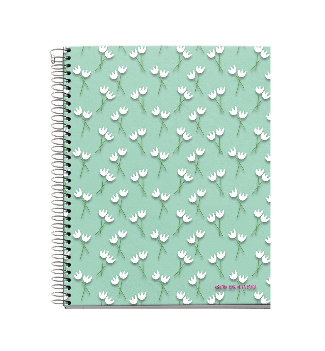 Agatha Ruiz De La Prada 48071–Notebook 4cartone Tulipani, DIN A4, 210x 297mm, 70g/m², 120fogli, a righe) MIQUEL-RIUS