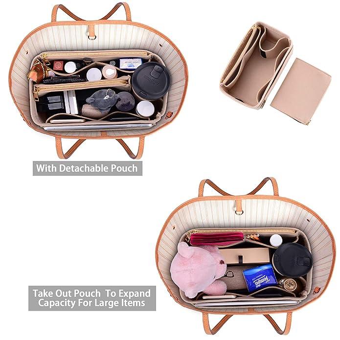 Amazon.com: Organizador de bolso, bolsa de fieltro ...