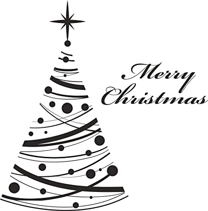 Christmas Vinyl Decals.Amazon Com Elegantdecals Tree Bauble Decoration Wall Art
