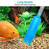 DaToo Aquarium Cleaning Pump Kit Fish Tank Aquarium Cleaner Vacuum Siphon Long Nozzle and Short Nozzle for Gravel Sand Cleaning and Changing Water with Water Flow Controller