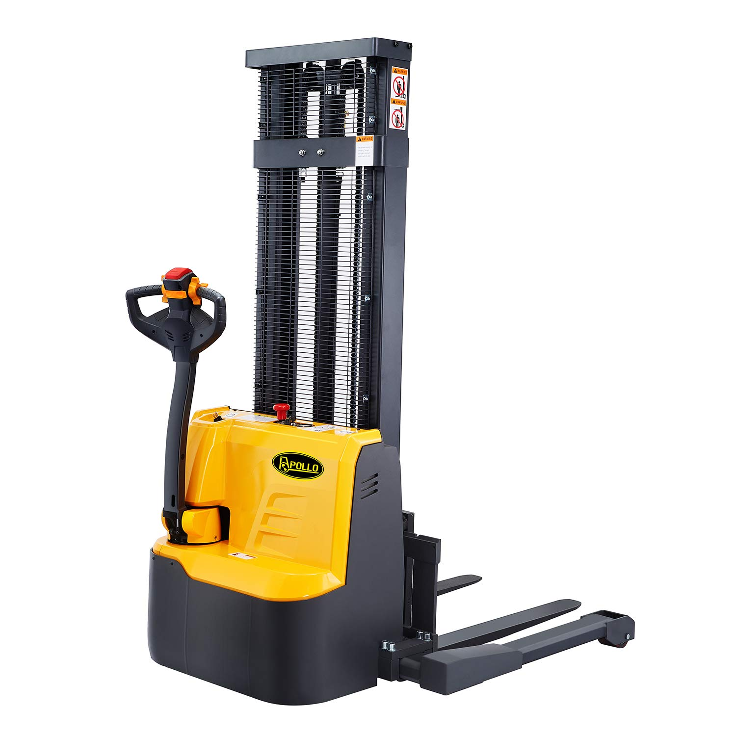 118 Lifting|Straddle Legs|Adj ApolloLift Semi-Electric Stacker Forks|Material Lift 3300lbs