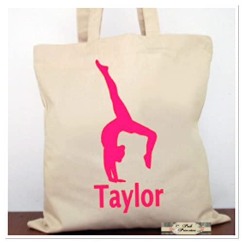 8b40b9d6c4 Image Unavailable. Image not available for. Color  Personalized Gymnastic  Tote Bag