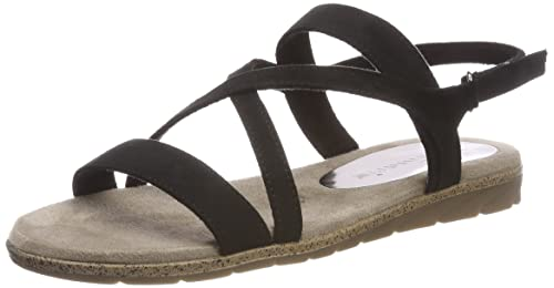 Womens 28109 Sling Back Sandals, Black Tamaris