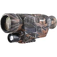 BOBLOV Monoculaire Numérique, Lunette de Vision Nocturne Infrarouge IR pour la Chasse avec Carte TF 8 GB Camouflage