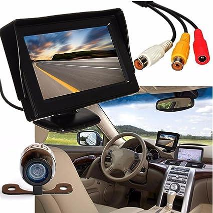 Car Backup Rear View Reverse Camera Night Vision Wireless 4.3/'/' TFT LCD Monitor