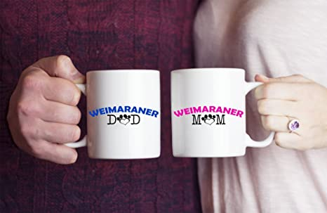 Amazon com: Funny Weimaraner Couple Mug – Weimaraner Dad