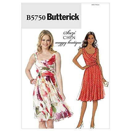31671aec7db1 Amazon.com: Butterick Pattern B5750 Suzi Chin Maggy Boutique Misses ...