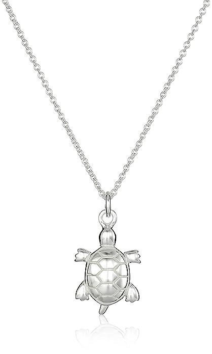 2502c05c3e65 Amazon.com  Sterling Silver Turtle Pendant Necklace