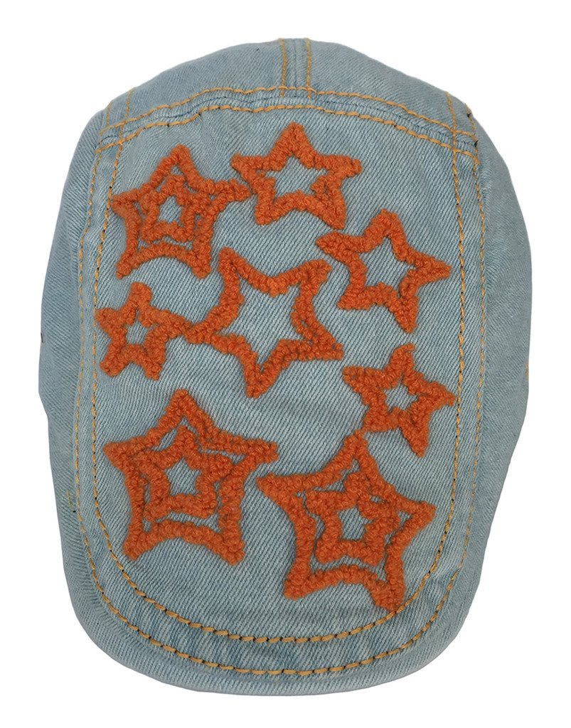 Toyobuy Unisex Denim Adjustable Star Summer Peaked Newsboy Cap Blue by Toyobuy