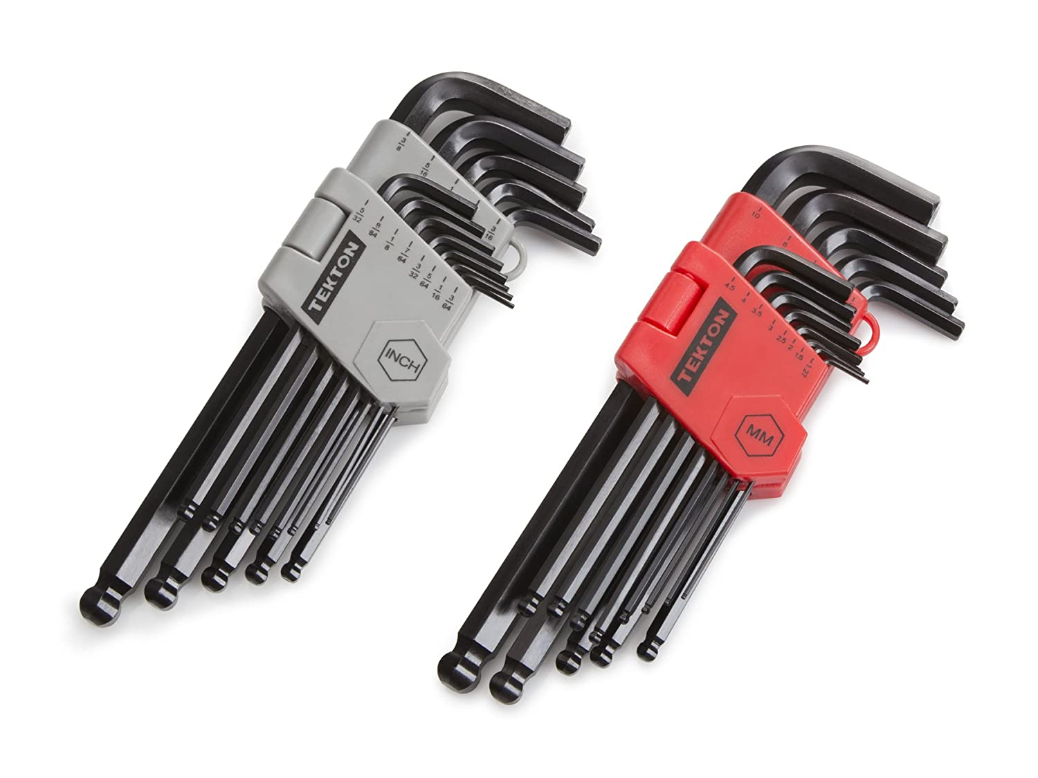 TEKTON Long Arm Ball End Hex Key Wrench Set, Inch/Metric, 26-Piece | 25282