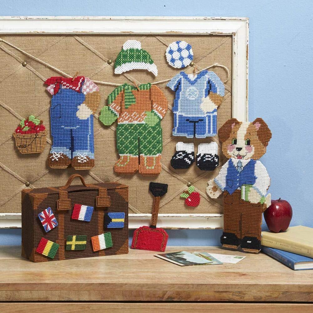 Herrschners/® World Traveling Puppy Play Set Plastic Canvas Kit