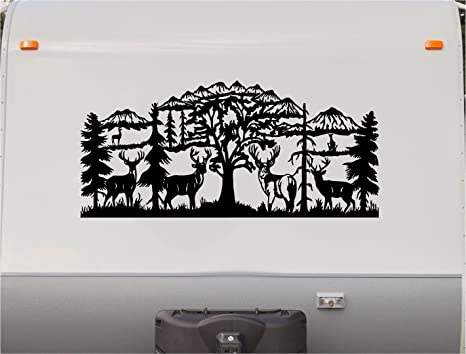 Deer mountains motor home stripe kit rv stickers trailer stickers camper vinyl decal