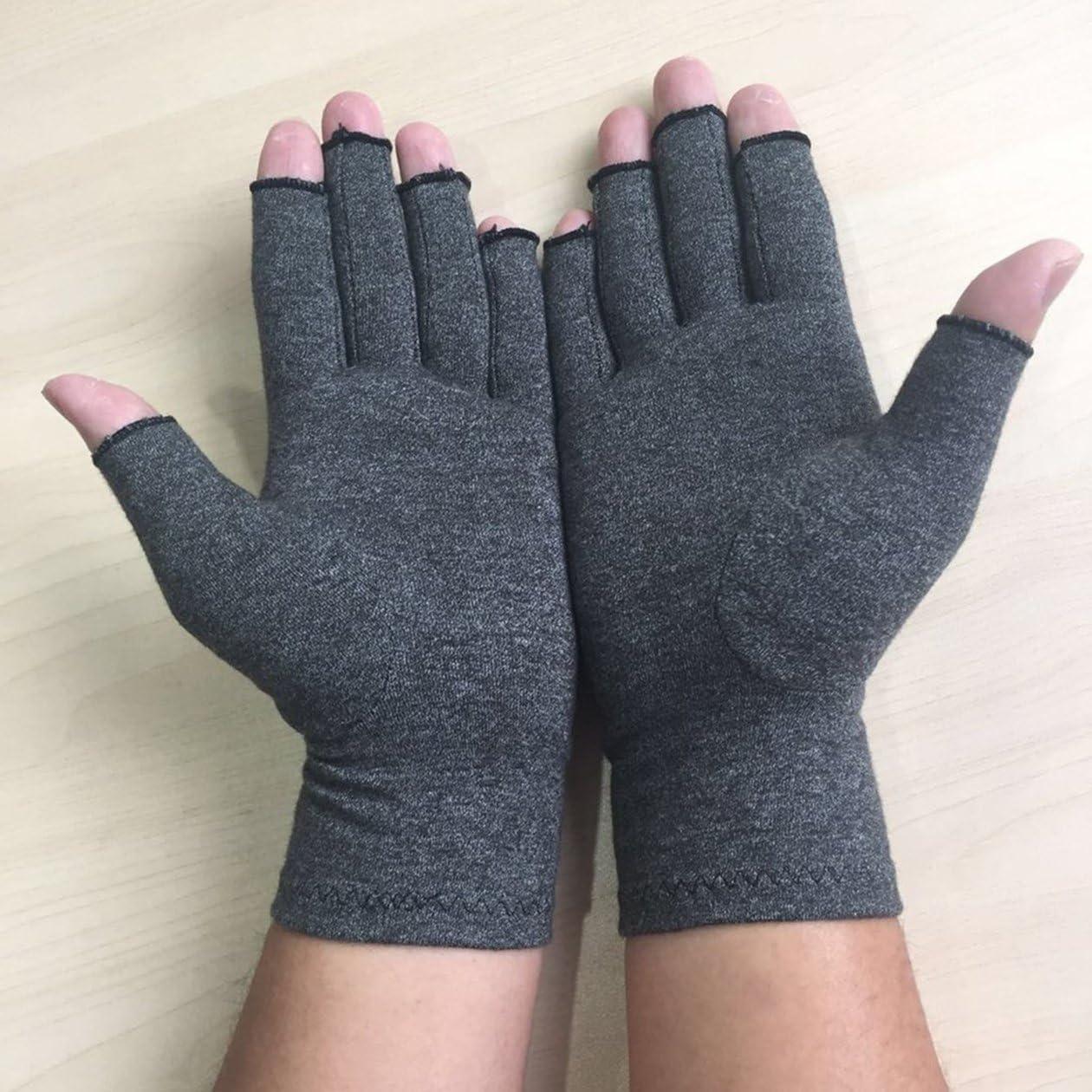 couleur: gris -S taille: S Une paire//un ensemble confortable hommes femmes femmes th/érapie gants de compression couleur unie respirant arthrite gants de soulagement de la douleur articulaire