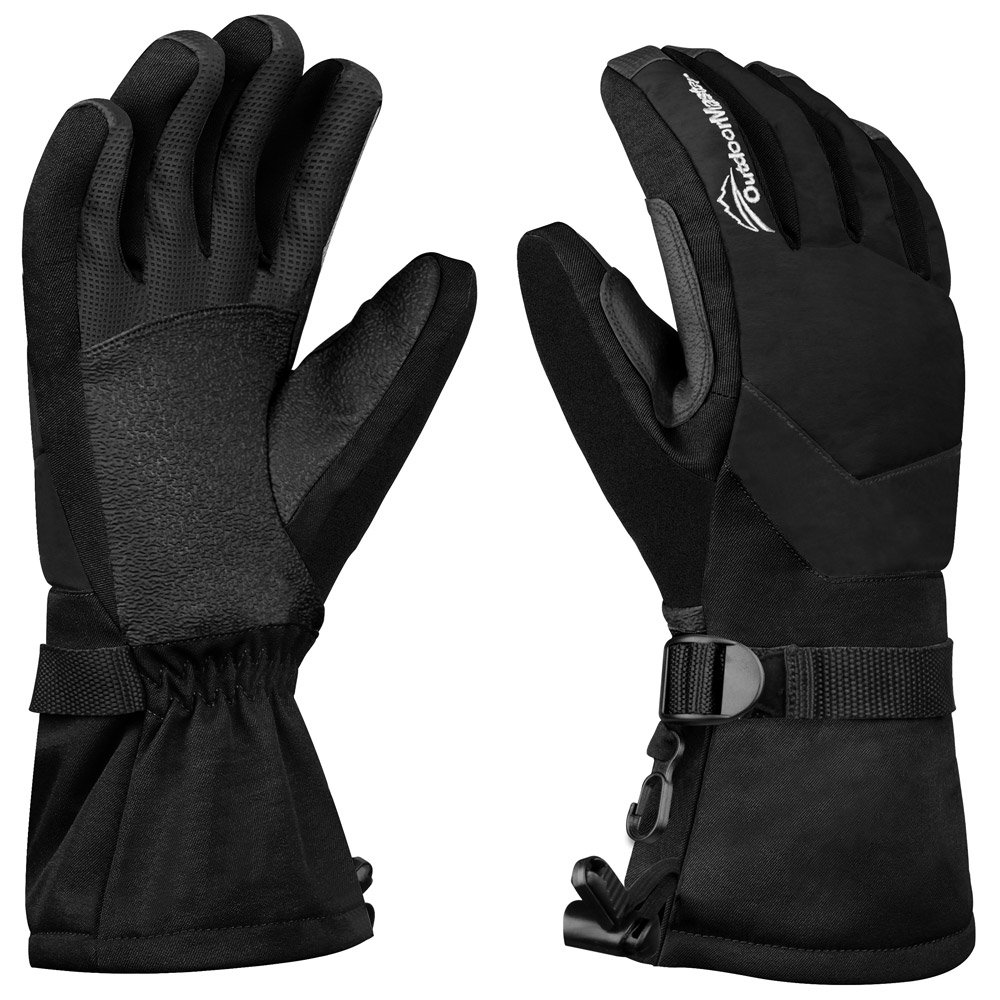 Womens leather ski gloves - Outdoormaster Womens Ski Gloves Waterproof Winter Gloves With Long Gauntlets