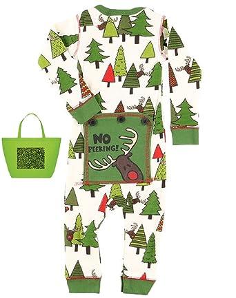 c29599cf2d Lazy One Gift Set No Peeking Baby Boys  Flapjacks Pajamas and Tote Bag (6