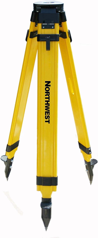 Northwest Instrument Heavy-Duty Wood//Fiberglass Flat-Head Tripod w//Wing Nut Lock NWFT98A