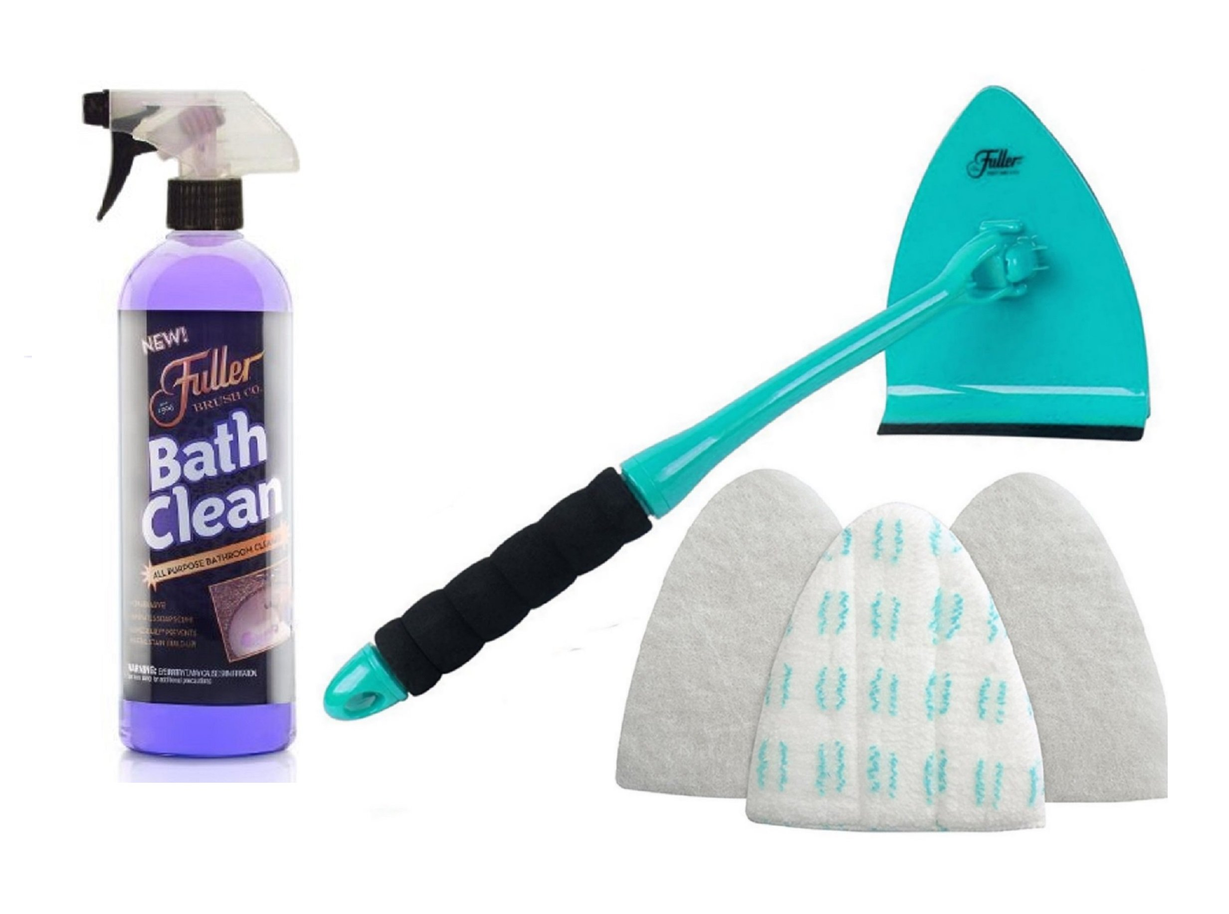 Fuller Brush BathClean Tile and Bathroom Scrubbing Kit with Big EZ Bath Scrubber & Squeege by Fuller Brush