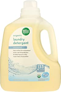 Whole Foods Market, Organic Laundry Detergent (133 HE Loads), Unscented, 200 Fl Oz