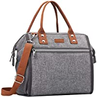 Mokaloo Insulated Lunch Bag With Removable Shoulder Strap (Gray)