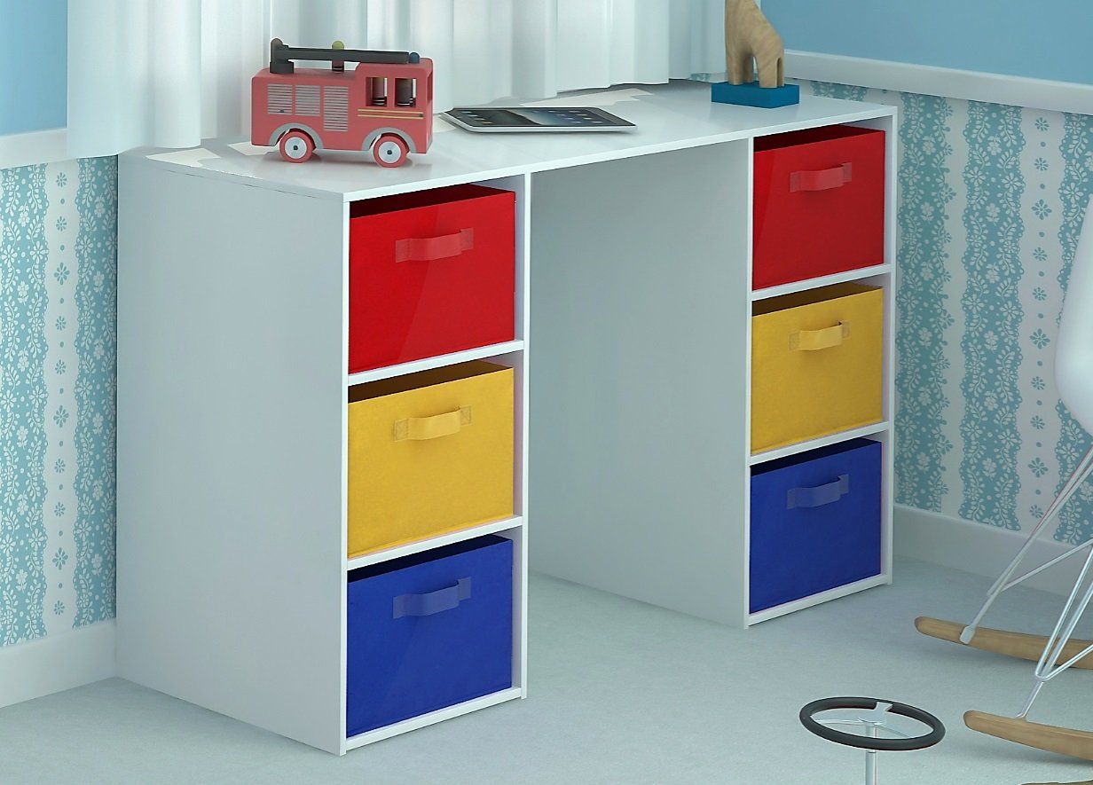 home source kids desk toy storage  canvas drawers for children's bedroomplayroom amazoncouk kitchen  home. home source kids desk toy storage  canvas drawers for children's