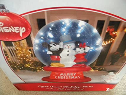 disney 6 ft mickey and minnie mouse christmas inflatable globe - Disney Christmas Inflatables