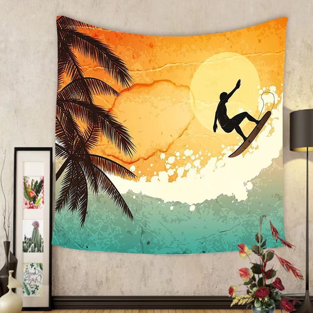 Amazon.com: Gzhihine Custom tapestry Grunge Tapestry Illustration of ...