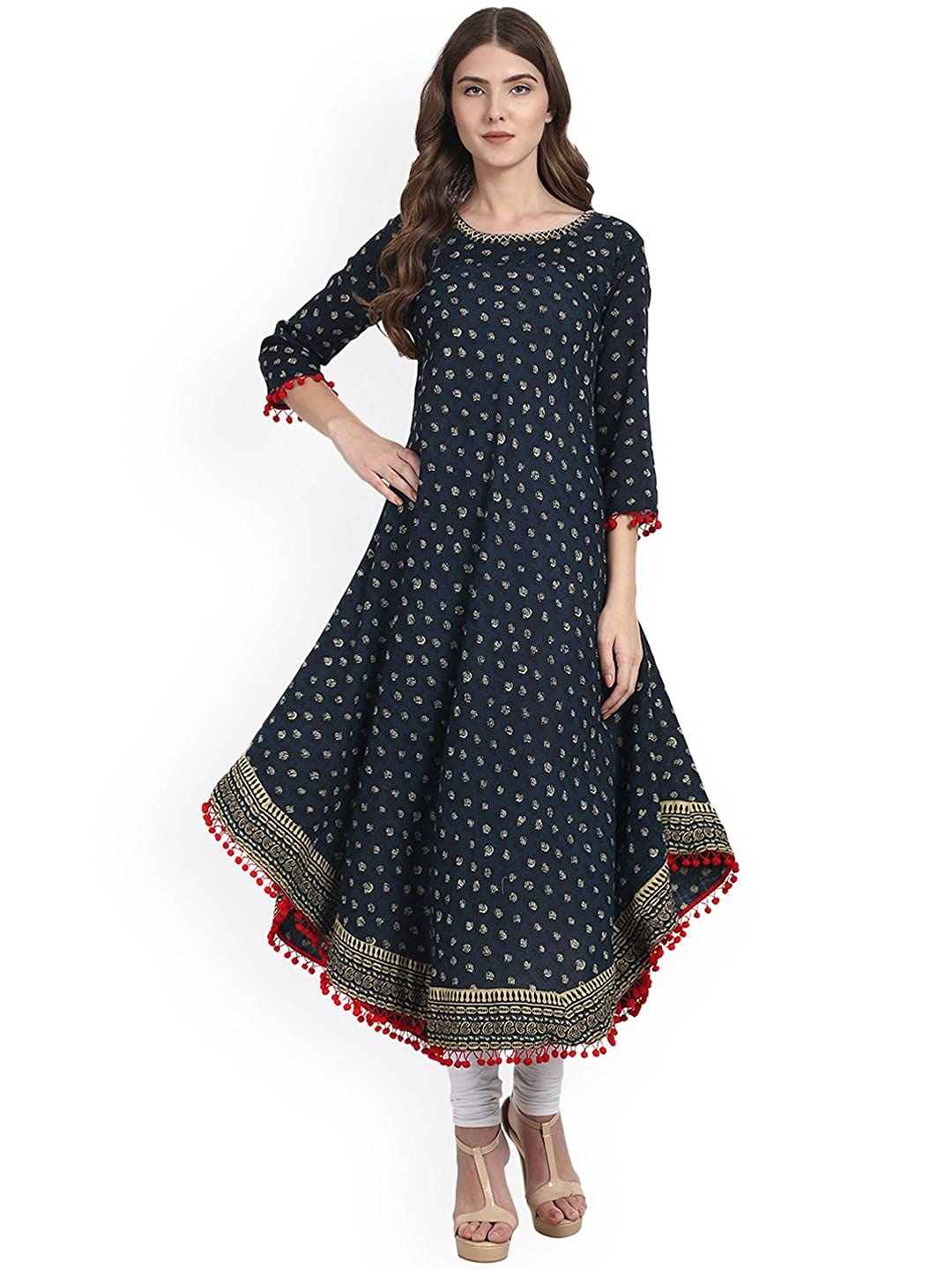 Women's Cotton Anarkali Kurti