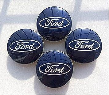 GHJHHJHJ xinglong 4 Tapas para Llantas de Ford Brillante, Color Azul: Amazon.es: Coche y moto