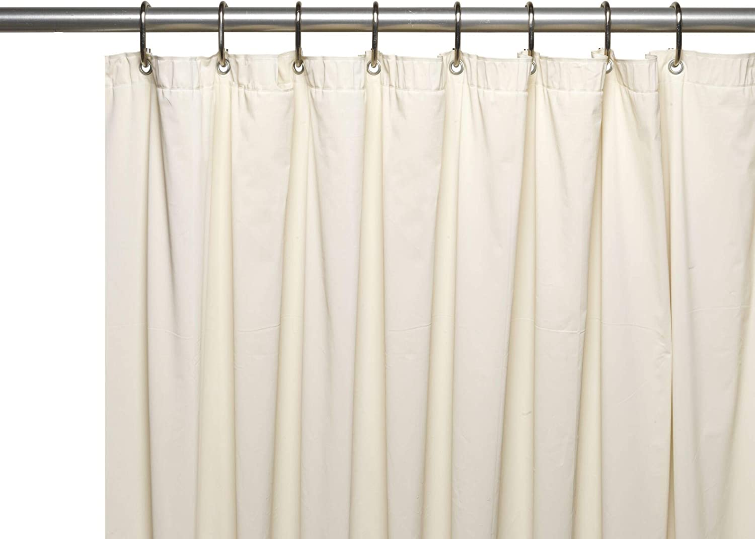 Hotel Collection Heavy Duty Mold & Mildew Resistant Premium PEVA Shower Curtain Liner with Rust Proof Metal Grommets - Assorted Colors (Ivory/Beige)