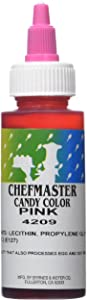 Chefmaster Liquid Candy Color, 2-Ounce, Pink