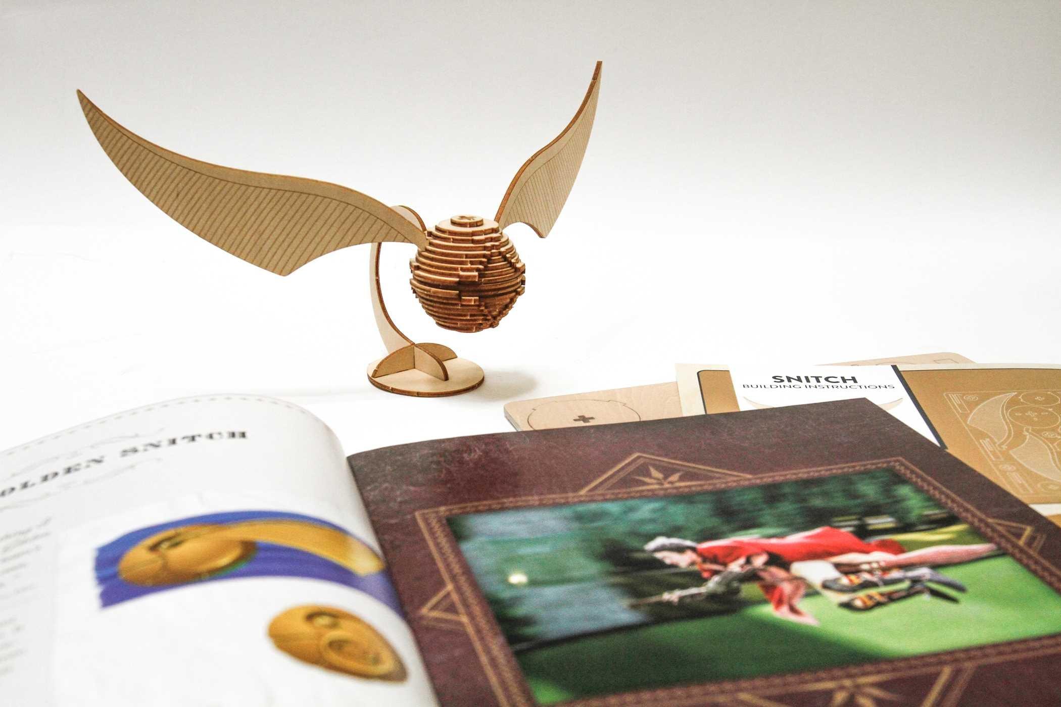 Amazon IncrediBuilds Harry Potter Golden Snitch 3D Wood Model And Booklet 9781682980309 Jody Revenson Books